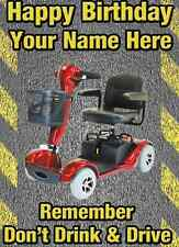 A5 Personalised Greeting Card ELEC SCOOTER DRINK DRIVE HUMOUR Birthday PIDS9