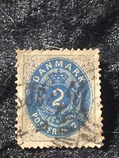 SCOTTS #16 DENMARK STAMP USED