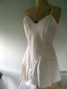 """NEW Vintage satin """"Close Things"""" teddy slip  small 10/12 button crotch"""