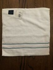 NEW Fieldcrest white and teal wash cloth