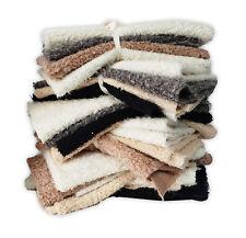 Fur Fabric, Furry Faux Sheeps Wool Fleece, Fat Squares Remnants Bundle, Neotrims