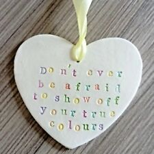 Inspirational Positive Quote Heart Wall Sign Friend Gift Present LGBT Gay Pride