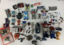 VINTAGE TRANSFORMERS LOT- GRIMLOCK JAZZ BOMB BURST MORE! MISC PARTS SOLD AS IS