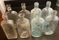 Lot of 8 Antique Glass Bottles