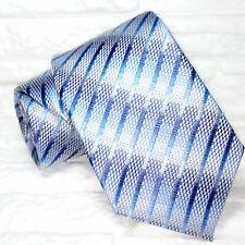 Cravatta design blue  TOP QUALITÀ nuovva Made in Italy 100% seta Morgana