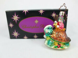Retired Christopher Radko Turtle Express Christmas Ornament Little Gems 1010616