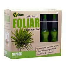 Vitax Drip Feed Plant Food Fertiliser Pack 10 Drip Feeders Foliar House Plants