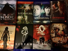 Lot de +90 films et séries en DVD et blu-ray Heroes Lost Dexter Sweeney Todd...