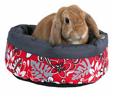 Trixie Rabbit Fleece Microfiber Red Flower Bed