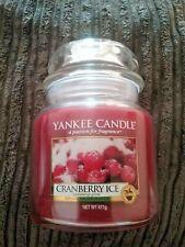 new Yankee Candle medium jar - cranberry ice
