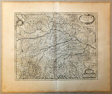 Carte 1656 JANSSONIUS antic map in-folio DUCHÉ DE BAVIÈRE Bavaria Regensburg 73