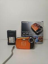 Fujifilm FinePix XP20 -14 MP Waterproof Digital Camera with Optical Zoom- Orange