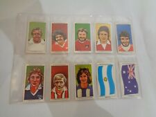 Vintage Sun Soccercards Strikers Flags of Soccer Nations 931 to 940 - set of 10