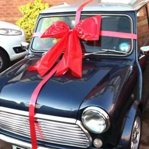 Large giant gift bow hand crafted car ribbon large birthday Xmas gift 24ins red