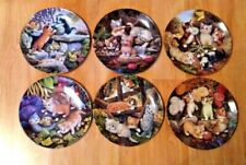 Set of 6 Kahla Collector's Plates - Kitten Expeditions by Jurgen Scholz - 1996/7