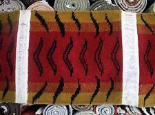 Tiger Rug Meditation Mat: wool stripe cushion carpet square Nepal Tibet Tibetan