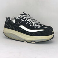 Skechers Womens Shape Ups 11809EW Black White Sneakers Shoes Lace Up Size 7.5