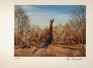 LOUISIANA #1 1981 STATE TURKEY STAMP PRINT by Don Edwards  Sentinel