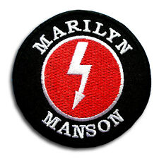 Marilyn Manson Patch Iron on American Rock Band Vest Heavy Metal Music Musician