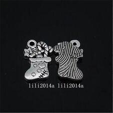 12pc Tibetan Silver Christmas stockings Charm Beads Pendant accessories PL1042