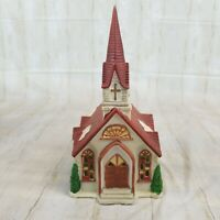 Vintage Noma Dickensville Collectables Church w/ Steeple Porcelain Lighted 27215