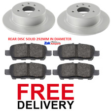 FOR NISSAN JUKE 1.5 DCi 1.6 (2010-2014) TWO REAR BRAKE DISCS AND PADS SET NEW