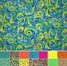 Fabric Freedom Bright Spirit 100% Cotton Psychedelic Butterfly Craft Fat Quarter