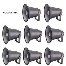 NEW PyleHome PHSP8K 8.1'' Indoor / Outdoor 50 Watt PA Horn Speakers ( Lot of 8 )