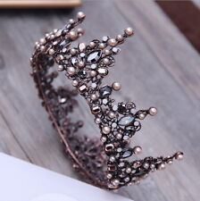 Luxury Antique Copper Crystal Queen Wedding Bridal Party Pageant Prom Crown 5.5""