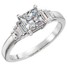 1.01 carat Princess cut Diamond GIA E color VS1 clarity 14k White Gold Ring