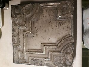 Antique OLDE GOOD THINGS NY Architectural Salvage Tin Tile Art Wall Ceiling