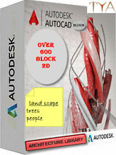 AUTOCAD COLLECTION DWG FILE SOFTWARE  ARCHITECTURE LIBRARY OVER 600 BLOCK 2D