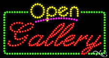 "New ""Open Gallery"" 32x17 Solid/Animated Real Led Sign W/Custom Options 25505"