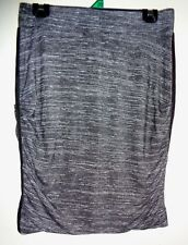 """""""TS"""" Grey Stretch Elastic Waisted Fitted Skirt. Size XXS,"""