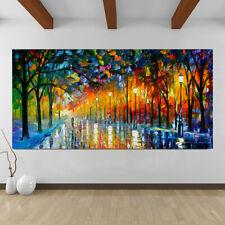 Modern Wandkunst Baum Nacht Blick Beleuchtung Groß Leinen Abstrakt Gemälde
