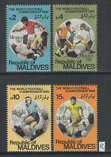 XG-Z653 MALDIVES IND - Football, 1986 Mexico '86 World Cup, Winners Ovp. MNH Set