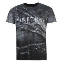 Mens NEW Firetrap Unique Graphic Print Sub T Shirt Crew Neck Top Size S-XXXL