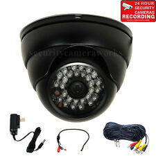 Outdoor Security Camera IR 600TVL Wide Angle Built-in Sony CCD w/ Audio Mic bw0