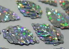 1000 Paillettes Sequins Feuille Argenté Hologramme un trou ♥ SCRAPBOOKING Déco ♥