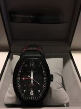 Montres De Luxe Mens GMT Estremo Black white red Tonneau Leather Watch NEW