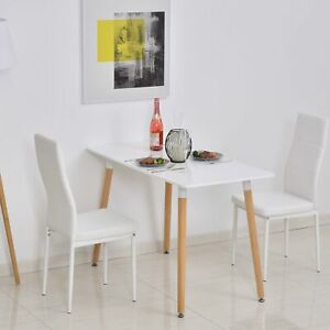 Small Dining Table Retro Breakfast Room Modern Space Saving Kitchen Furniture