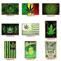 Metal Tin Weed Pot marijuana Wall Home Art Retro Decor Sign Living Bed joint