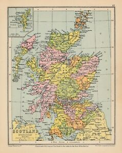 Map of Scotland by George Philip c1934