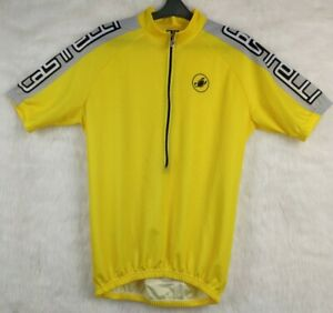 CASTELLI SCORPION  Cycling Yellow Jersey Jacket  Size L Made in Italy