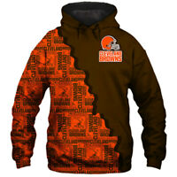 Cleveland Browns Hoodie Hooded Pullover Coat S-5XL Football Team Fans Gift