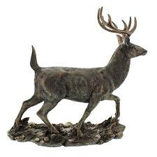 "NEW Vintage Bronze Colour Large 12"" Stag Figurine Statue Gift Ornament Sculpture"