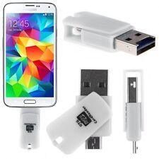 2en1 Adaptateur OTG+Lecteur carte Micro SD pour Samsung Galaxy S5 Mini / S4 Mini