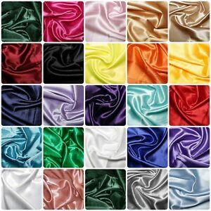 Silky Satin Dress Craft Fabric Plain Luxury Wedding Material 150cm Extra Wide