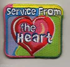Girl Scouts Fun Badge Patch~Service from the Heart Community Service~NEW