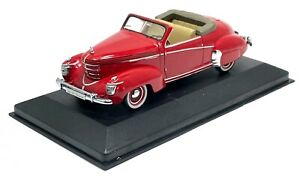 """IXO MUSEUM GRAHAM PAIGE ROADSTER """"SHARKNOSE"""" 1939 RED MODEL CAR 1:43 SCALE"""